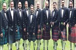 İskoçya'da etek giydiler!