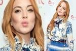 Lindsay Lohan'ı hediye paketine benzettiler