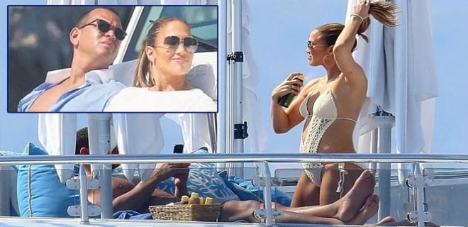 Jennifer Lopez ve sevgilisinin romantik tatili!