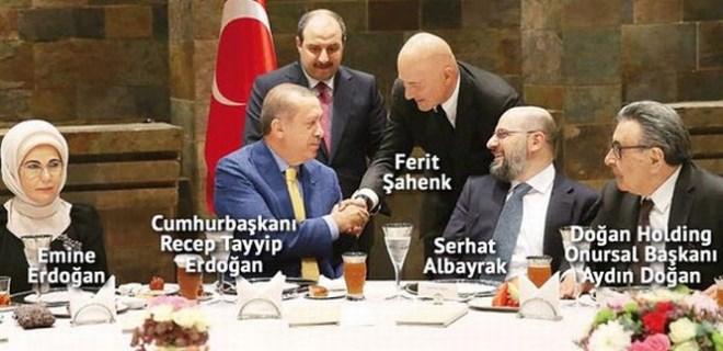Medya patronları Erdoğan'ın iftar davetinde