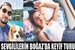 Aslışah Alkoçlar ve Kerem Tunçeri'nin Boğaz'da keyif turu