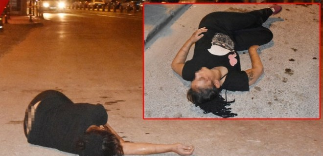 Dövülüp sokağa atılan kadın hamile çıktı!