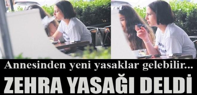 Zehra Çilingiroğlu sigara yasağını hiçe saydı