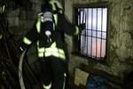 Terk edilen binada 'şüpheli' yangın