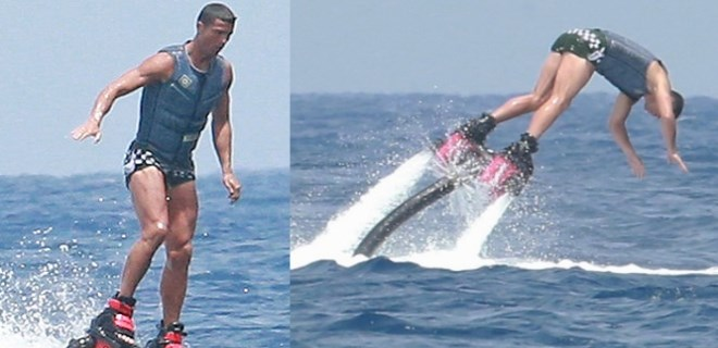 Cristiano Ronaldo'nun keyifli tatili sürüyor
