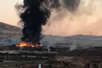 Kilis'te askeri personelin kaldığı konteynerlerde yangın!