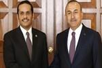 Mevlüt Çavuşoğlu, Katar Dışişleri Bakanı ile buluştu