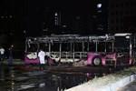 İETT otobüsünde yangın!