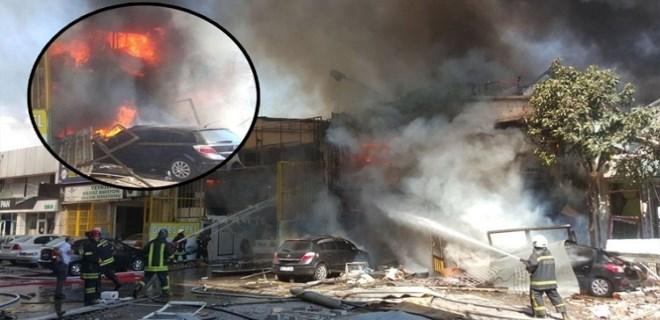 Samsun'da sanayi sitesinde patlama!
