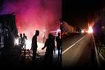 Sakarya'da TEM Otoyolu'nda TIR yandı