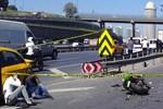 TEM'de feci trafik kazası!...