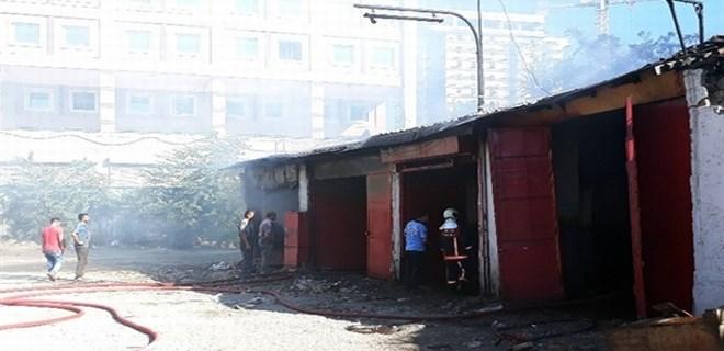 Ankara'da sanayi sitesinde korkutan yangın