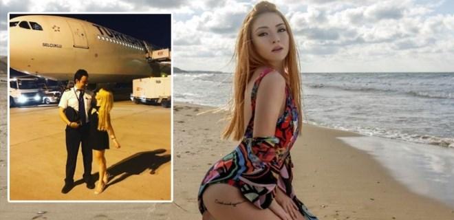 Ece Seçkin pilot sevgilisiyle birlikte Antalya'ya uçtu