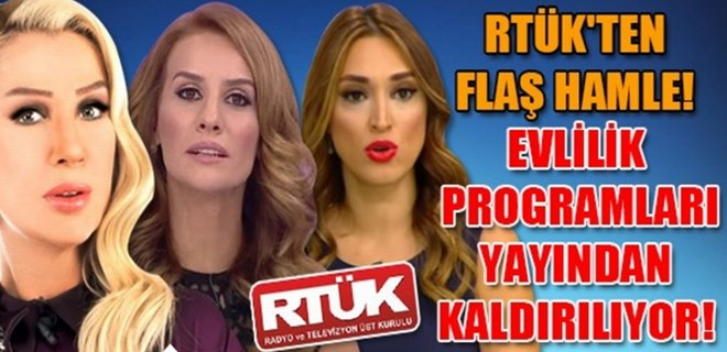 RTÜK'ten flaş 'evlilik program'ı hamlesi!..