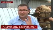 Boğa, 24 TV muhabirine tükürdü!