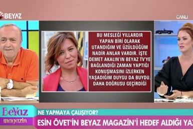 Ali Eyüboğlu canlı yayında Esin Övet'i bombaladı!