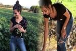 Amine Gülşe'nin patlıcan mutluluğu