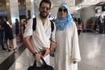 Murat Yıldırım ile eşi İmane Elbani hacca gitti