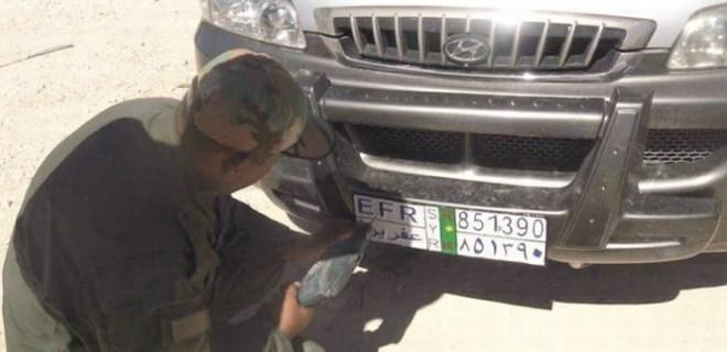 PKK, Afrin'de 'özel plaka' uygulaması başlattı!