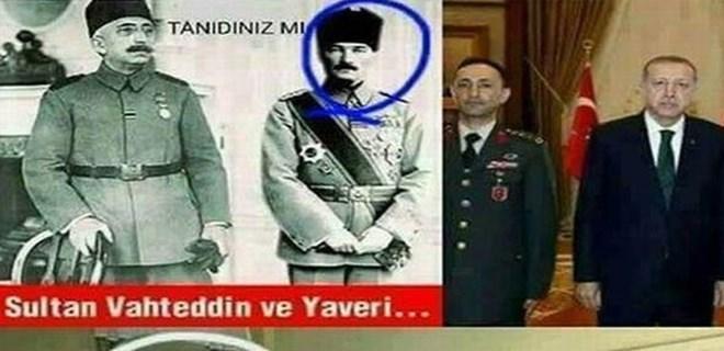 Atatürk'lü 'yaver' paylaşımına soruşturma