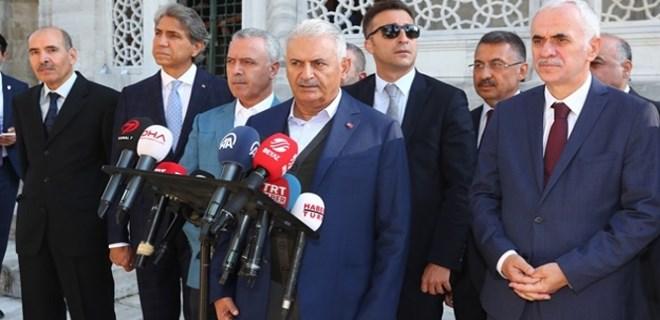 Başbakan Yıldırım'dan cenazedeki saldırıyla ilgili ilk açıklama