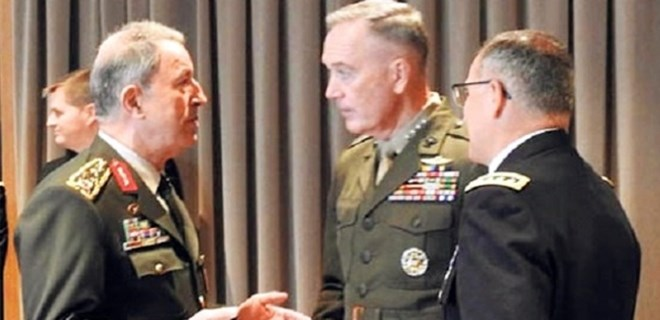 Org. Hulusi Akar, ABD'li mevkidaşı ile konuştu