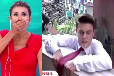 Serap Paköz'ün programında skandal görüntü!