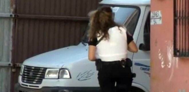 Kadın polisi şaşkına çeviren olay!
