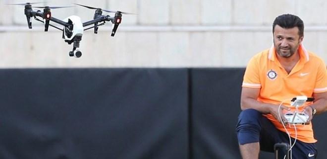 Osmanlısporlu oyunculara 'drone'lu takip