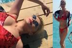 Songül Karlı bikiniyle poz verdi