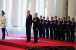 Erdoğan'ın karşılandığı töreninde dikkat çeken iki isim