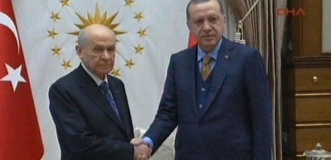 Erdoğan - Bahçeli görüşmesi