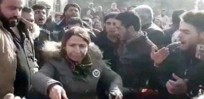Menbiç'te halk PKK'ya karşı ayaklandı!