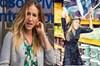Hollywood'un ünlü ismi Sarah Jessica Parker'ın bir markette alışveriş yaparkenki bu görüntüsü...
