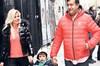 Seda Üren, eşi Ercüment Nefesoğlu ve üç yaşındaki oğlu Nefes Kaan'la önceki gün Nişantaşı'nda...