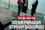 100 bin firmadan istihdam başvurusu!