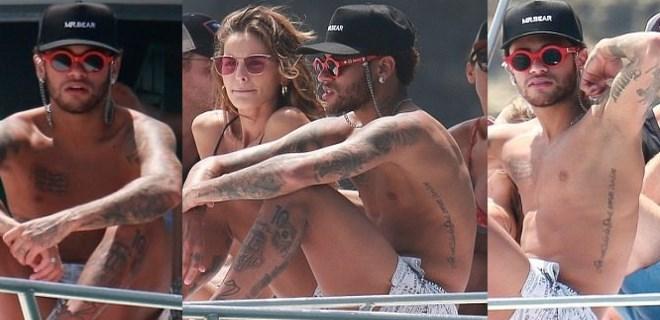 Neymar sevgilisiyle yat turuna çıktı