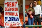 Şampiyonlar Ligi maçında evlenme teklif etti