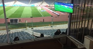 İranlı kadınların stadyumda maç heyecan