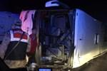 Kahramanmaraş'ta yolcu otobüsü devrildi