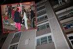 Apartmanın kolonu çatladı, vatandaşlar sokakta kaldı!