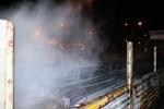 Seyir halindeki tırın dorsesinde yangın!