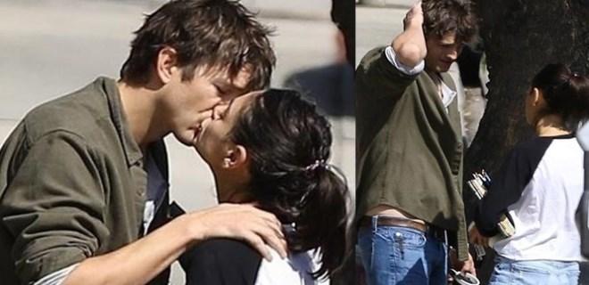 Asthon Kutcher ve Mina Kunis ilk günkü aşıklar gibi