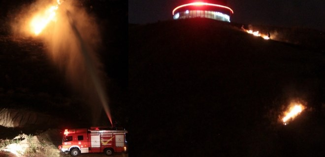 Erzurum'da esrarengiz yangın
