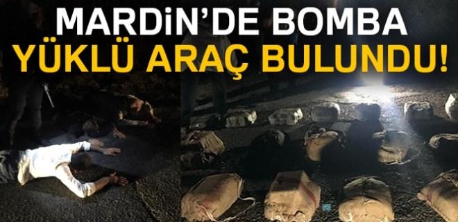 Mardin'de bomba yüklü araç yakalandı!