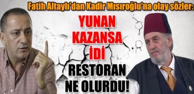 Fatih Altaylı'dan Kadir Mısıroğlu'na olay sözler