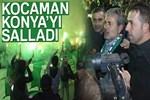 Konya'da Aykut Kocaman'a coşkulu karşılama