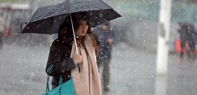 Meteoroloji'den karla karışık yağmur uyarısı