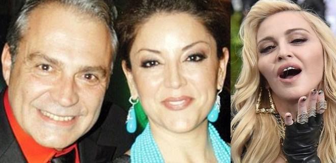 Haluk Bilginer ile Aşkın Nur Yengi Madonna'nın partisine katıldı