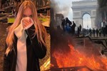 Paris'teki eylemlerde sürpriz isim!
